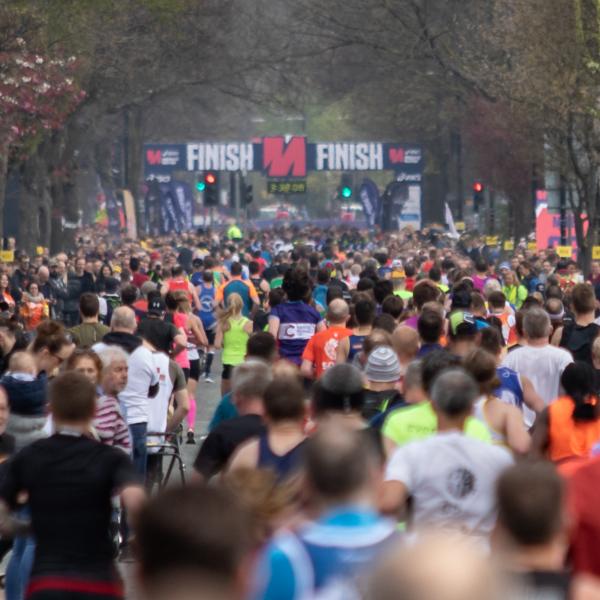 Manchester Marathon Finish Line