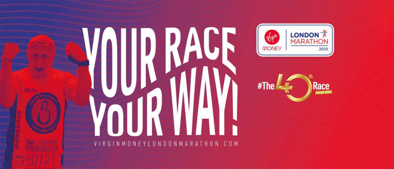 London Marathon Banner Your Race Your Way 2020