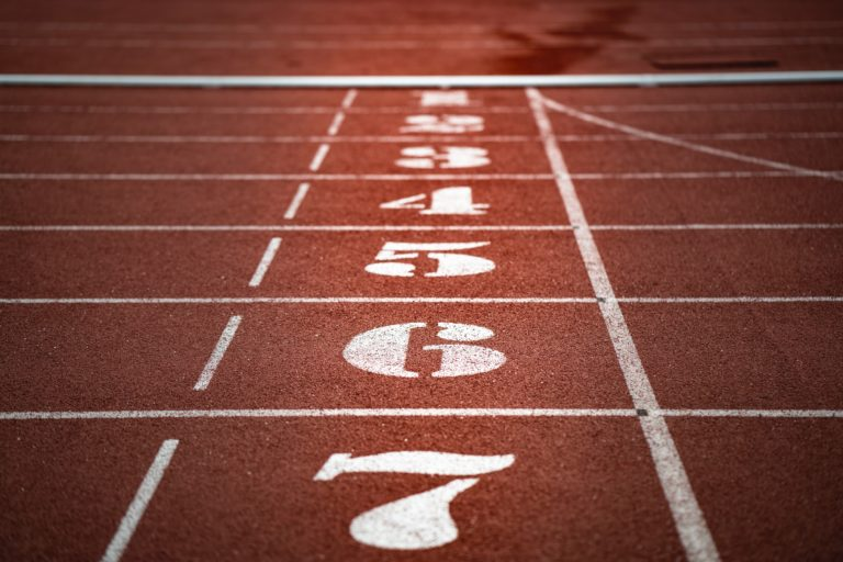 Running Track Start Line